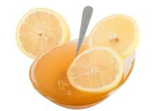 Lemon and honey Royalty Free Stock Image