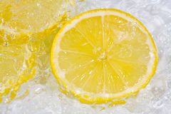 Lemon on ice Royalty Free Stock Photo