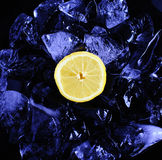 Lemon and ice Stock Photos