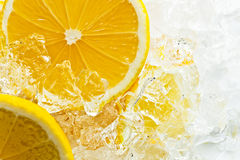 Lemon with ice Royalty Free Stock Images