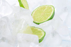 Lemon and Ice Stock Photography