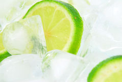 Lemon on Ice Stock Images
