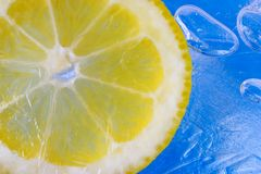 Lemon in ice Royalty Free Stock Photography