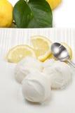 Lemon ice cream Royalty Free Stock Photo