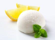 Lemon ice cream Royalty Free Stock Photos
