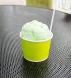 Lemon ice cream Royalty Free Stock Image