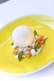 Lemon ice cream Royalty Free Stock Images