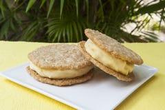 Lemon Ice Cream Sandwiches Royalty Free Stock Photos