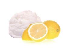 Lemon ice cream scoop Royalty Free Stock Photography
