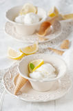 Lemon ice-cream Stock Photo