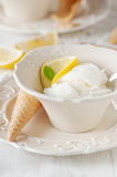 Lemon ice-cream Royalty Free Stock Images