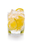 Lemon with ice in glass Royalty Free Stock Photos