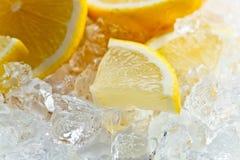 Lemon with ice Royalty Free Stock Image
