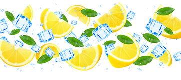 Lemon and ice Stock Images