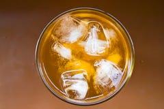 Lemon ice tea. A glass of lemon ice tea Stock Photos