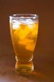 Lemon ice tea. On a glass Royalty Free Stock Image