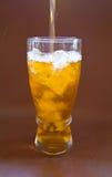 Lemon ice tea. On a glass Stock Photos