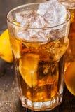 Lemon Ice Tea On Wooden Table Stock Images