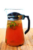 Lemon ice tea pitcher Royalty Free Stock Image