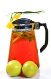 Lemon ice tea pitcher Royalty Free Stock Images