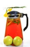 Lemon ice tea pitcher Royalty Free Stock Images