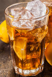 Lemon Ice Tea on wooden table Stock Images
