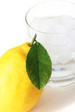Lemon and ice water Stock Photo