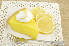 Lemon Icebox Pie Royalty Free Stock Photography