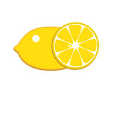 Lemon Icon. Nice juicy fresh Lemon yellow on a white background Royalty Free Stock Image