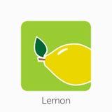Lemon icon simple flat vector illustration. Fresh lemon sign Stock Images