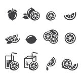 Lemon icon Stock Image