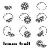 Lemon icons Royalty Free Stock Photo