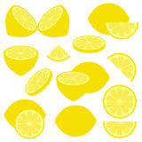 Lemon icons Royalty Free Stock Photography