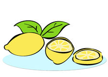 Lemon illustration Stock Photography