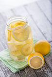 Lemon infuse water Royalty Free Stock Image
