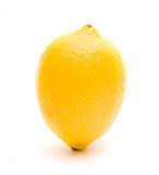 Lemon isolated. Ripe juicy lemon isolated on white royalty free stock image