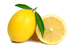 Lemon isolated. On white background