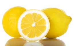 Lemon isolated over white background Royalty Free Stock Photo