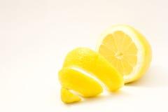 Lemon isolated on white background. Peeled lemon fruit isolated on white background Stock Image
