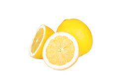 Lemon isolated. On white background Royalty Free Stock Images