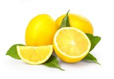 Lemon isolated on white stock photography