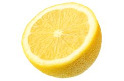 Lemon isolated on white background. healthy food stock photography