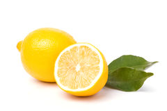 Lemon isolated on white background Stock Photos