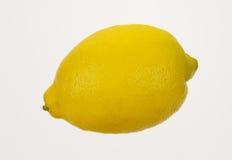 Lemon isolated on white background. Ripe yellow lemon isolated on white background Royalty Free Stock Photos