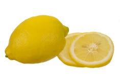 Lemon isolated on white background. Ripe yellow lemon isolated on white background Stock Image