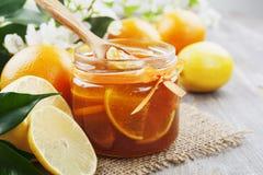 Lemon jam Stock Photography