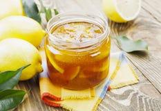 Lemon jam Stock Photos