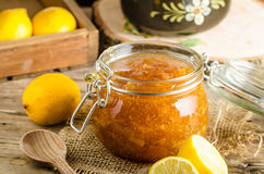 Lemon jam homemade Royalty Free Stock Image