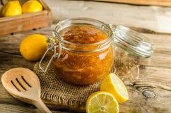 Lemon jam homemade Royalty Free Stock Images