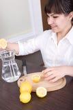 Lemon juice Royalty Free Stock Images